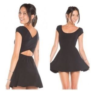 Brandy Melville black cross back dress